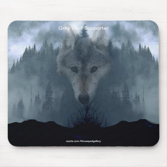 Grey Wolf Wildlife-supporter Animal Art Mouse Pad
