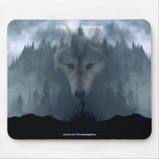 Grey Wolf Wildlife-supporter Animal Art Mouse Pads