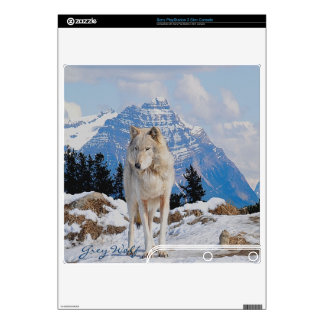 Grey Wolf & Winter Mountains Playstation 3 Skin PS3 Slim Decal