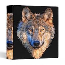 Grey wolf - wolf face binder