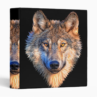 Grey wolf - wolf face binder