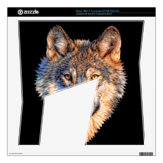 Grey wolf - wolf face xbox 360 s decals