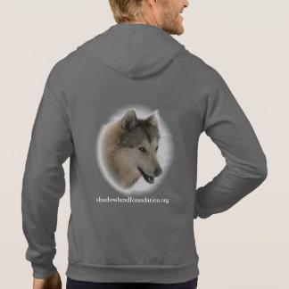Grey Wolf Zip Fleece Hoodie