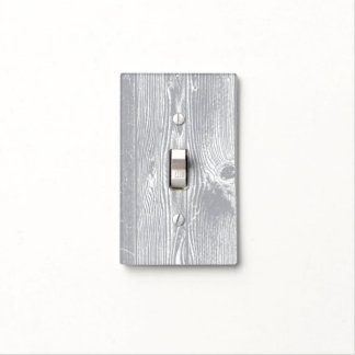 Grey Wood Pattern Light Switch Cover