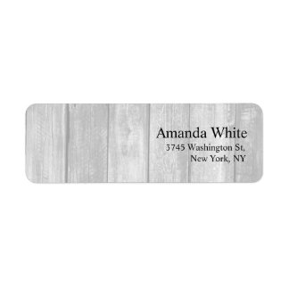 Grey Wood Plain Elegant Minimalist Modern Label