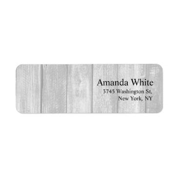 Grey Wood Plain Elegant Minimalist Modern Label