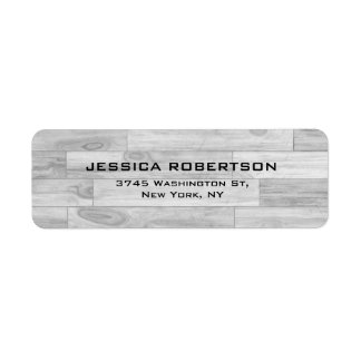 Grey Wood Plain Elegant Modern Trendy Label