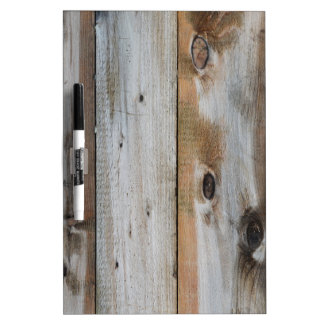 GREY WOOD TEXTURE DRY ERASE BOARD