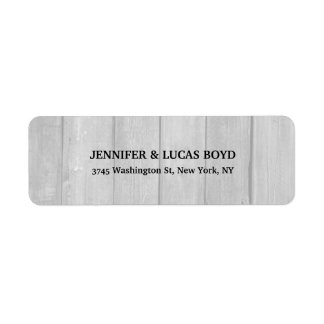 Grey Wood Unique Retro Style Classical Sheet Label