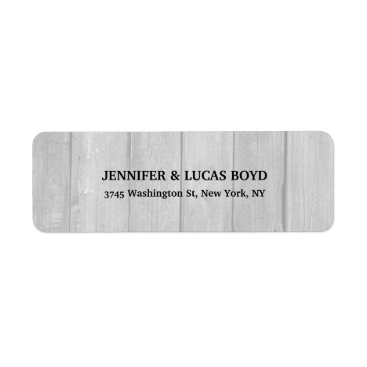 Professional Business Grey Wood Unique Retro Style Classical Sheet Label