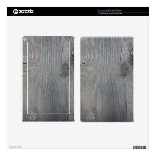 Grey Wooden Board Kindle Fire Skins