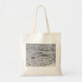 Grey Wooden Surface Budget Tote Bag