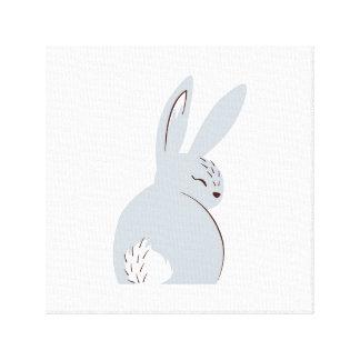 Grey Woodland Rabbit Canvas Print