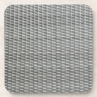 Grey woven webbing background beverage coaster