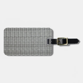 Grey woven webbing background tag for luggage