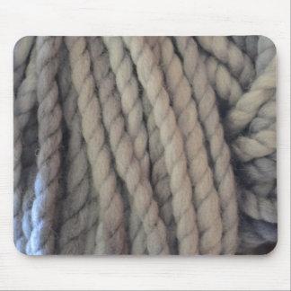 Grey Yarn Mouse Pad