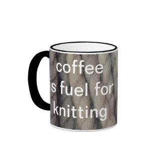 Grey Yarn Ringer Coffee Mug