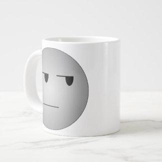 Grey Yeah Right Smiley Giant Coffee Mug