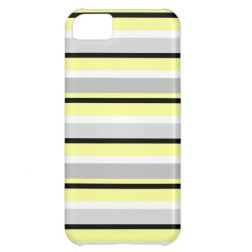 Beach Themed Grey, Yellow and White Case For iPhone 5C