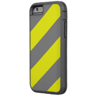 Grey Yellow Attention Warning Stripes Tough Xtreme iPhone 6 Case