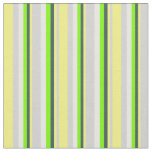 [ Thumbnail: Grey, Yellow, Dark Slate Gray, Green & Mint Cream Fabric ]