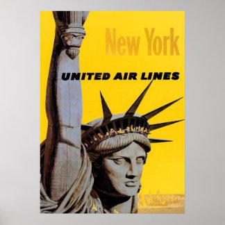 Grey Yellow New York City Travel Poster