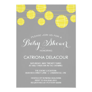 yellow and grey baby shower invitations  announcements  zazzle, Baby shower invitations