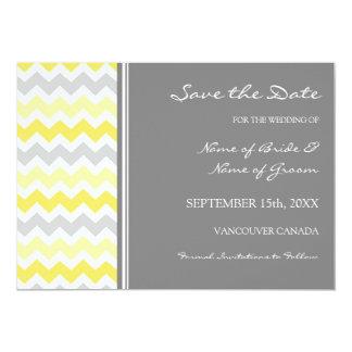 Grey Yellow Photo Wedding Save the Date Card Custom Invitations