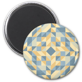 Grey Yellow Triangle Pattern Magnet