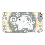 Grey Yellow White Elephant Floral Barely There iPhone 6 Case