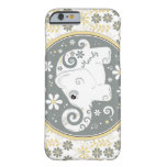 Grey Yellow White Elephant Floral iPhone 6 case iPhone 6 Case