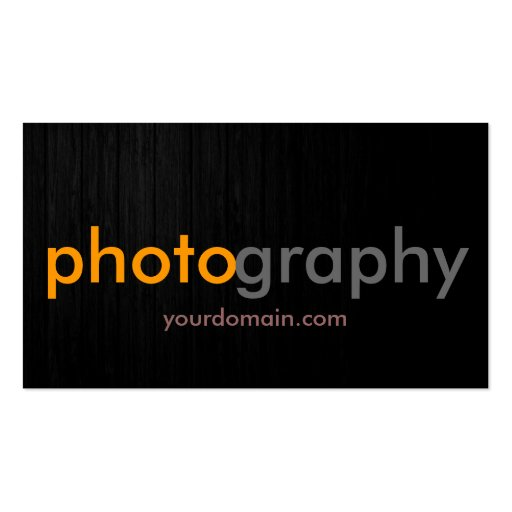 Grey Yellow Wood Photographer Artist Business Card