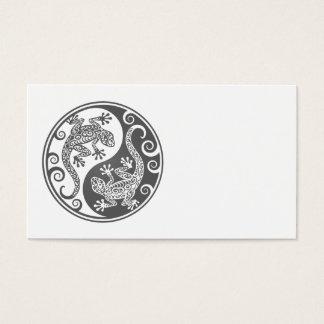 Grey Yin Yang Lizards Business Card