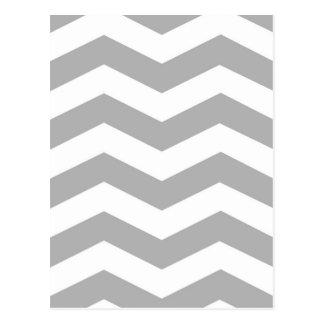 Grey zigzags postcards