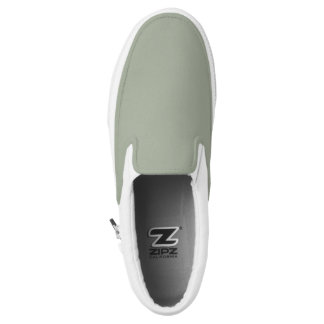 Grey Zipz slip ons Printed Shoes