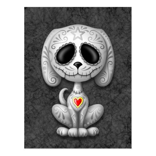 Grey Zombie Sugar Puppy Postcard
