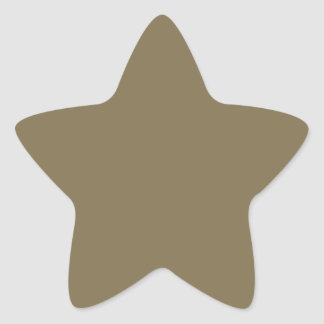 Greyed Camo Khaki Color Only Customizable Products Star Sticker