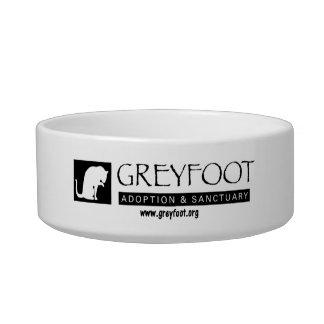 Greyfoot Cat Rescue Logo Pet Bowl