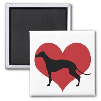 Greyhound 2 Inch Square Magnet