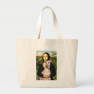 Greyhound 2 - Mona Lisa Large Tote Bag