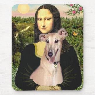 Greyhound 2 - Mona Lisa Mouse Pad