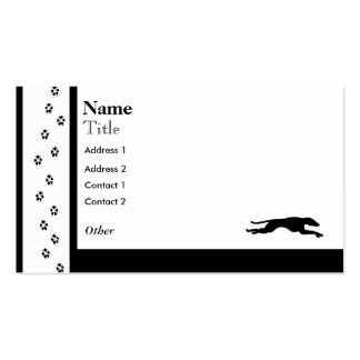 Greyhound a Racing Dog Double-Sided Standard Business Cards (Pack Of 100)