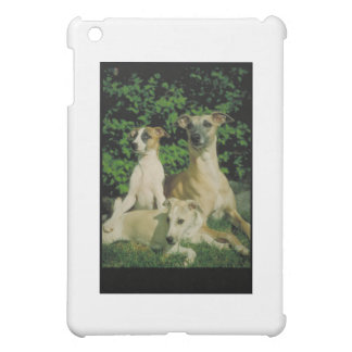 Greyhound and Puppies iPad Mini Cover