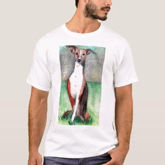 greyhound art print t-shirt