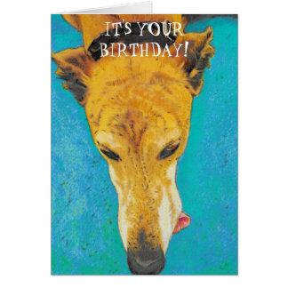 Greyhound Birthday Card ETS