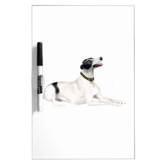 Greyhound (black and white) dry erase boards