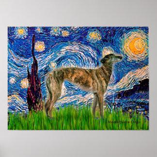 Greyhound (br2) - Starry Night Poster