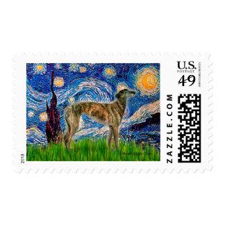Greyhound (br2) - Starry Night Stamp
