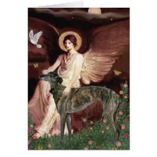Greyhound (br) - Seated Angel Greeting Card