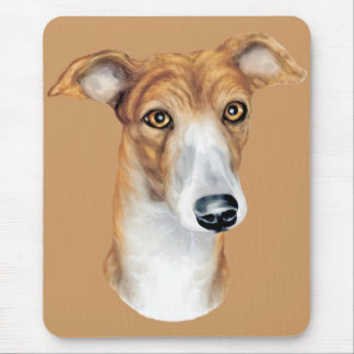 Greyhound Brindle Bust Mouse Mat